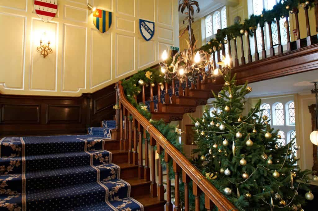 Garland and Tree Grand Staircase
