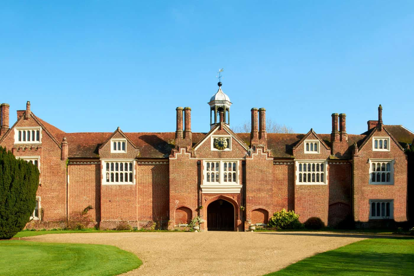 The amazing Gosfield Hall East aspect - wedding venue in Essex