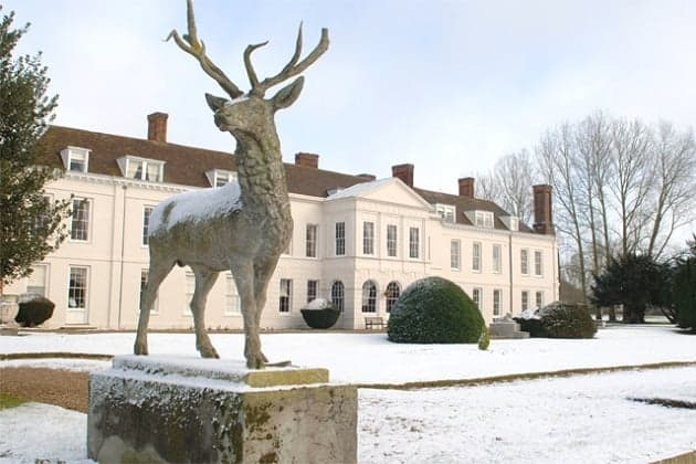 Gosfield Hall in the snow