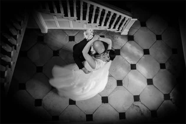 Bride and groom in Gosfield Hall