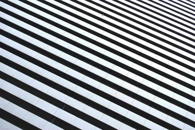 Black and white stripes on the floor