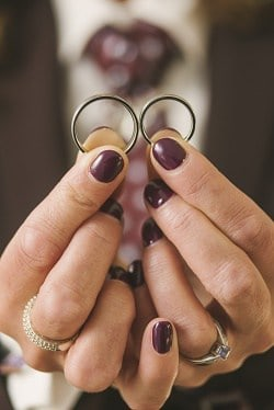 Wedding rings at Gosfield Hall