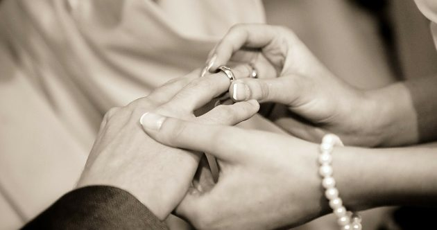 A Groom's wedding ring
