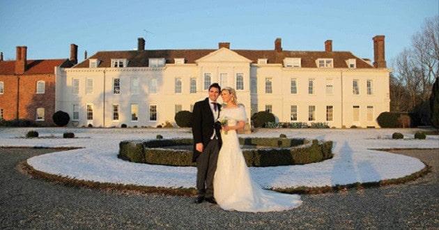 A winter wedding at Gosfield