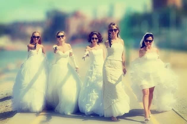 Feuding bridesmaids