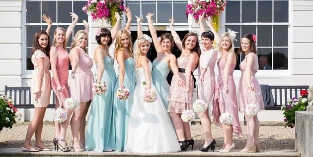 Bridesmaids at Gosfield Hall